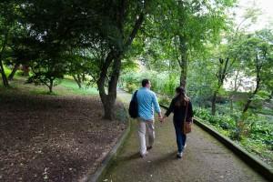 Walking together away