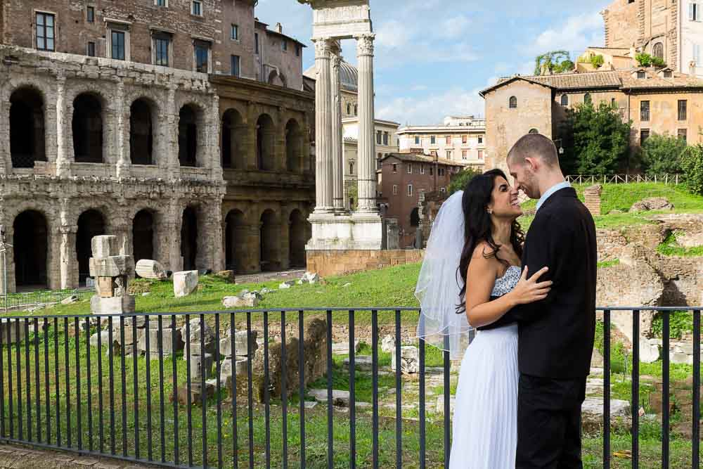 Kissing at Teatro Marcello