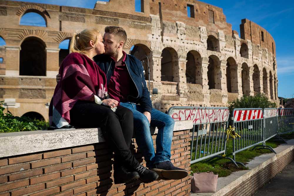 In love in Rome.