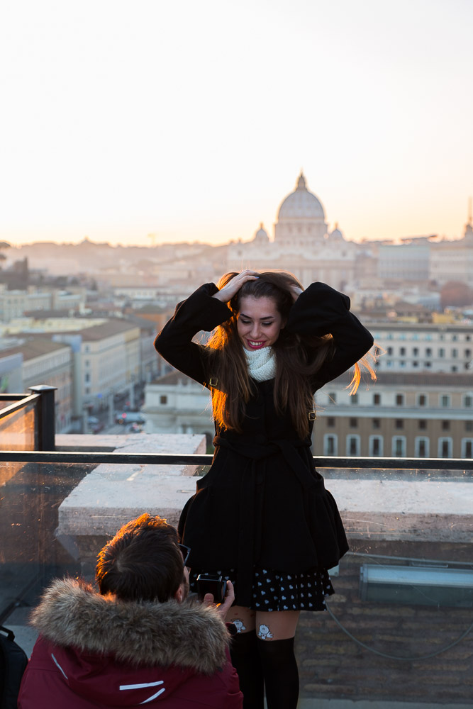 Surprised by the wedding proposal in Rome Italy