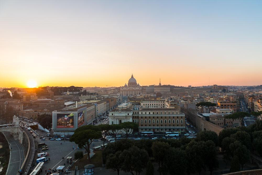 Panoramic view over the roman skyline