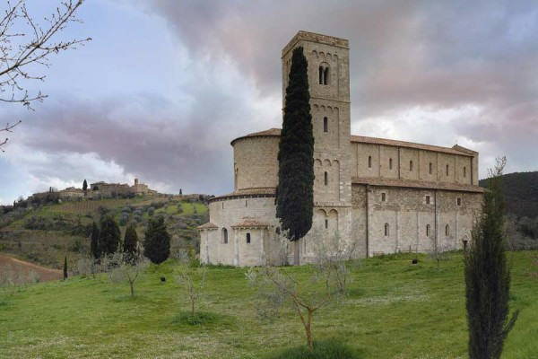 The abbey of Sant Antimo Castel nuovo dell abate Tuscany Italy