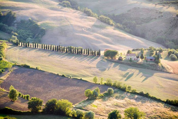 Aerial view Tuscan country