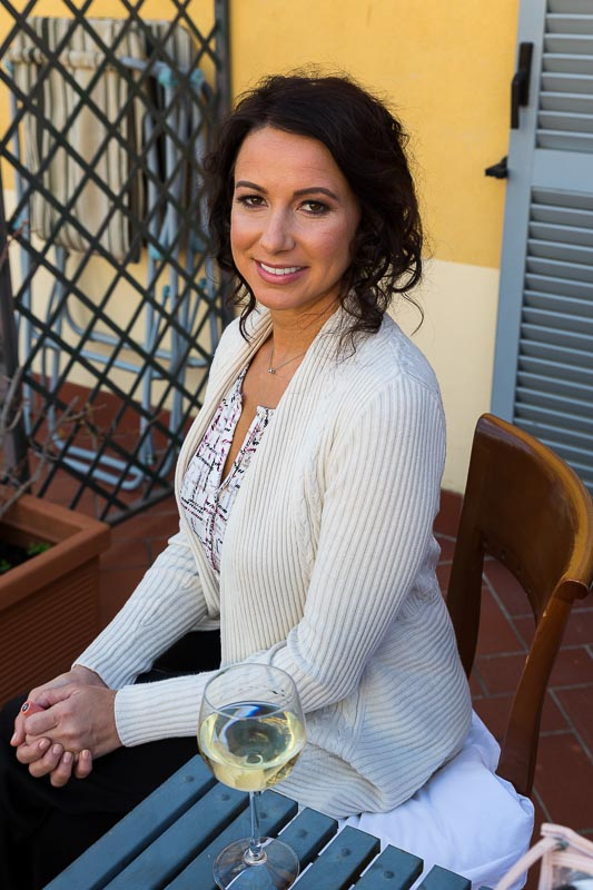 Woman portrait sitting down
