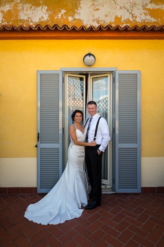 Portrait of the wedding couple