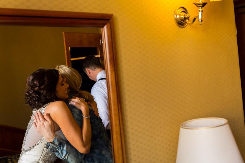 Hugging after preparations