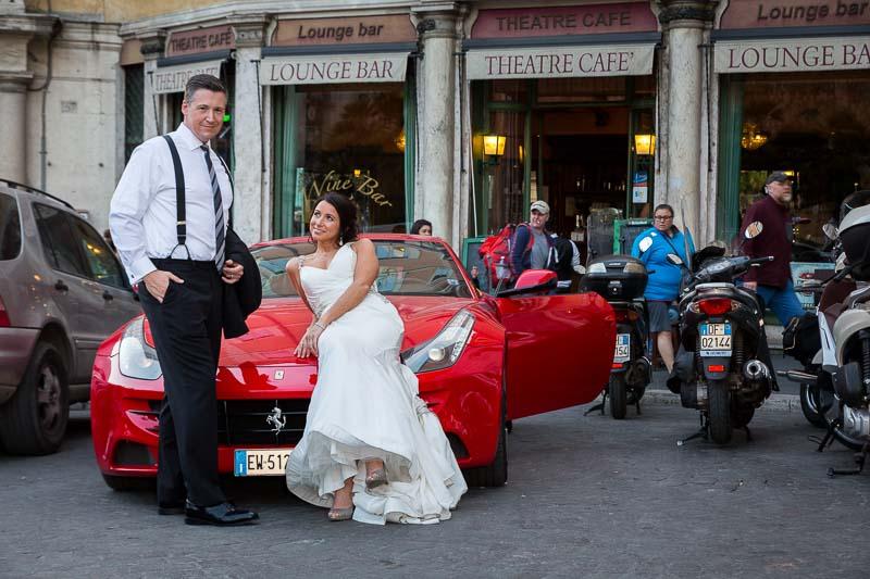Ferrari wedding photo shoot