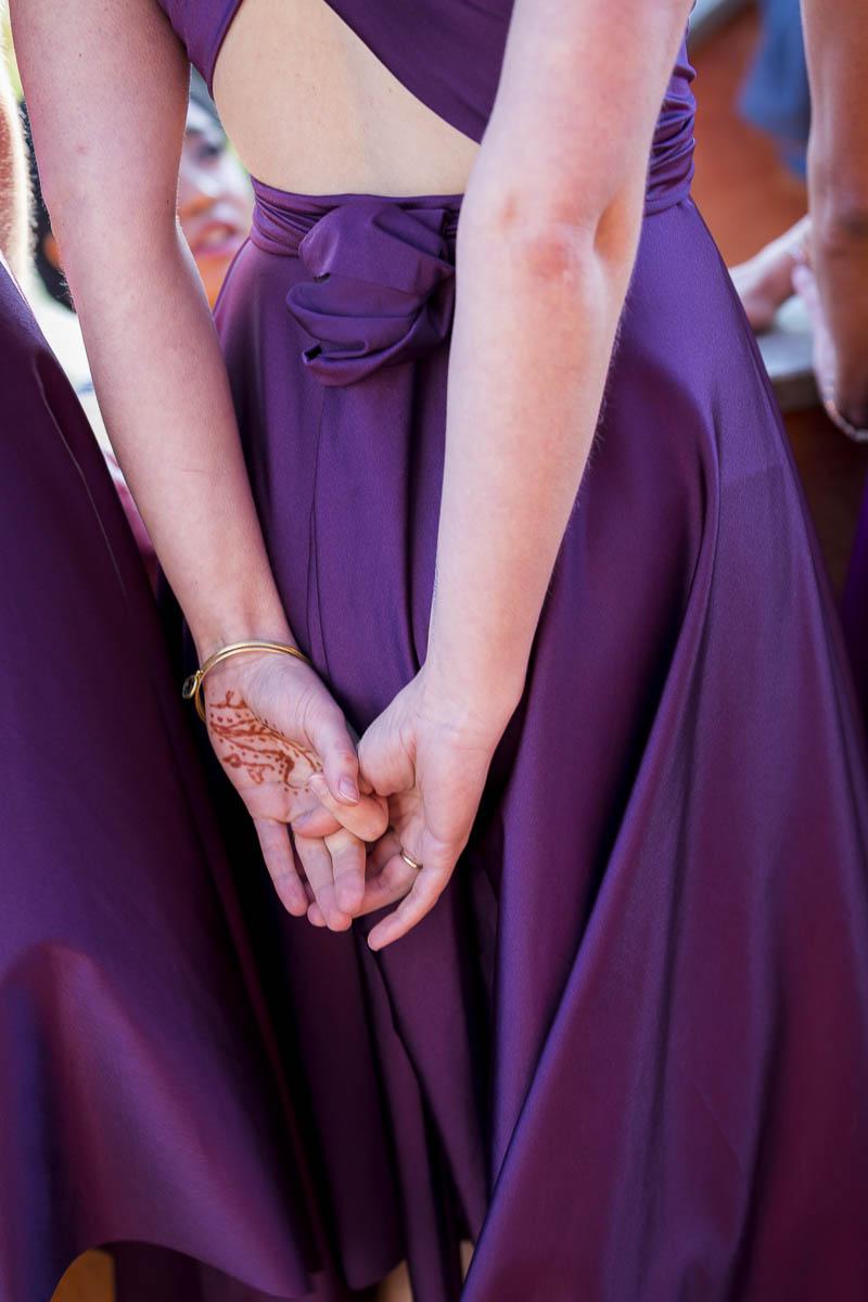 Image closeup of the bridesmaid