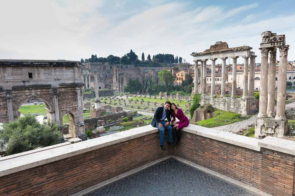 Photography session at the Roman Forum