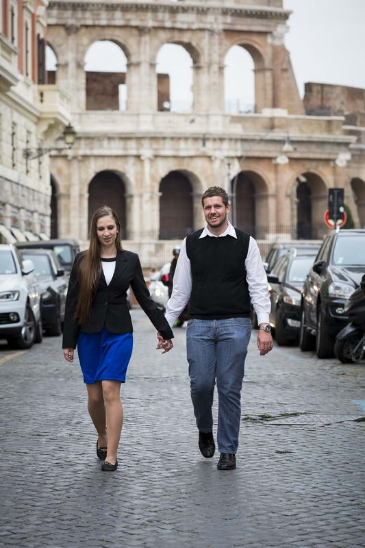 Walking in roman alleyways