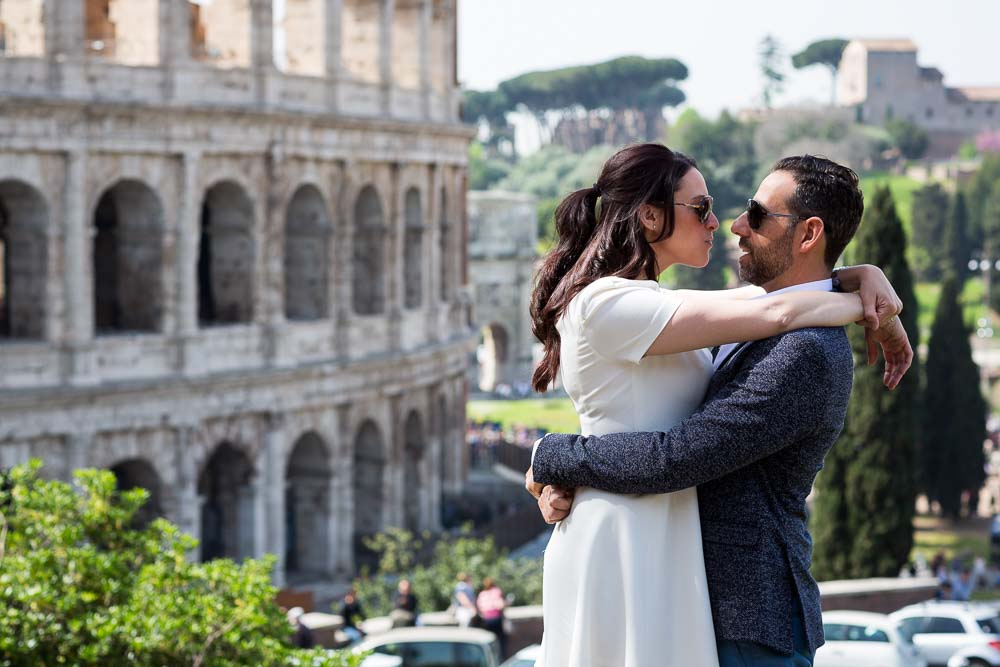 Romance in Rome. Photo session at the Colosseo
