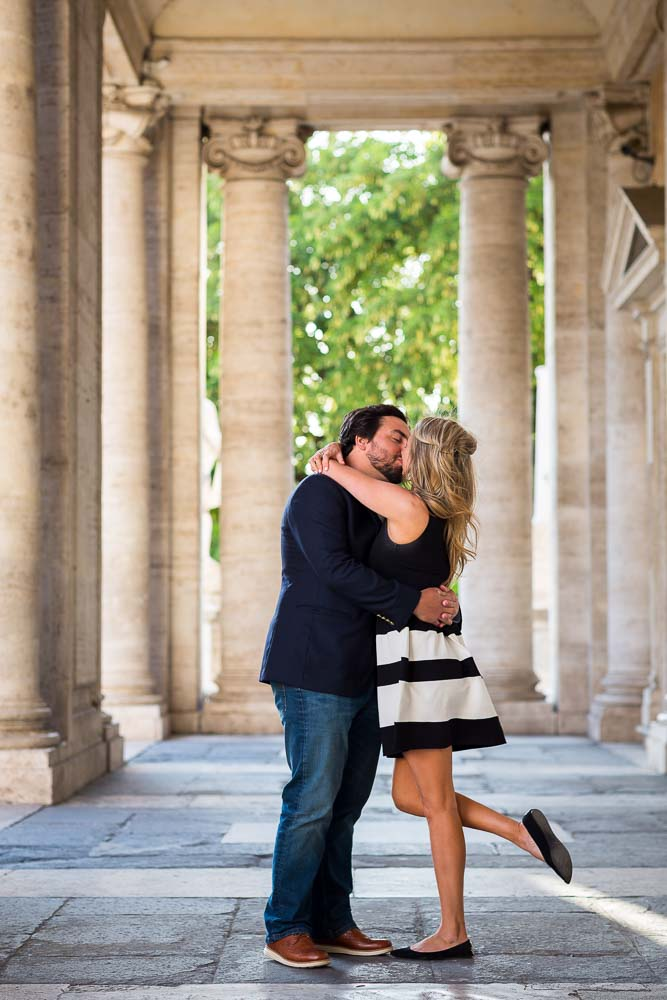 Happy and in love in Rome during and engagement session