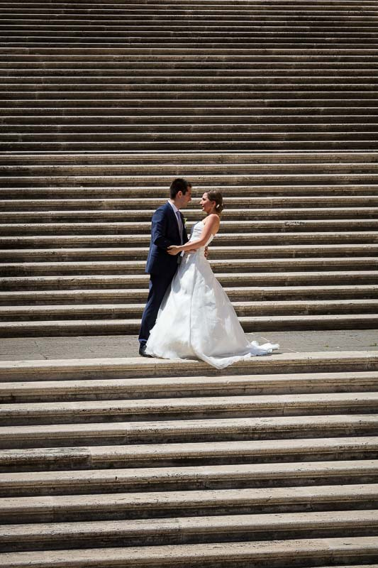 Photo shoot on the Campidoglio staircase