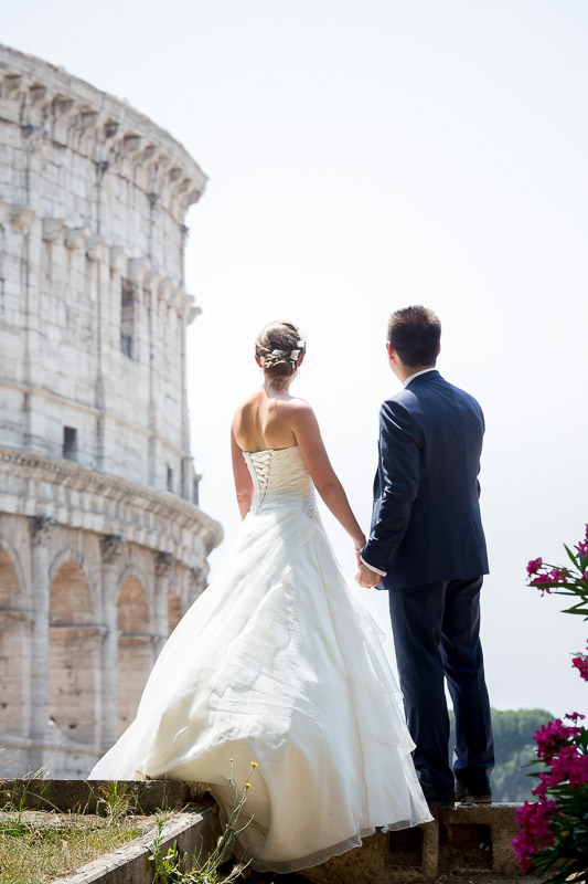 Roman Colosseum wedding photography in Rome Italy