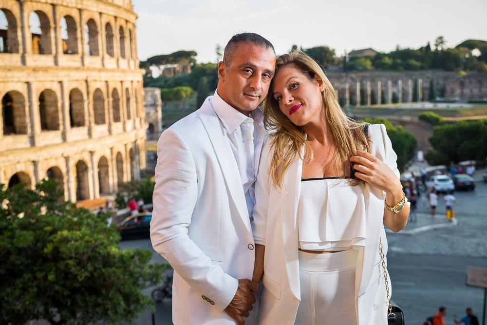 couple portrait engagement session at the Colosseum