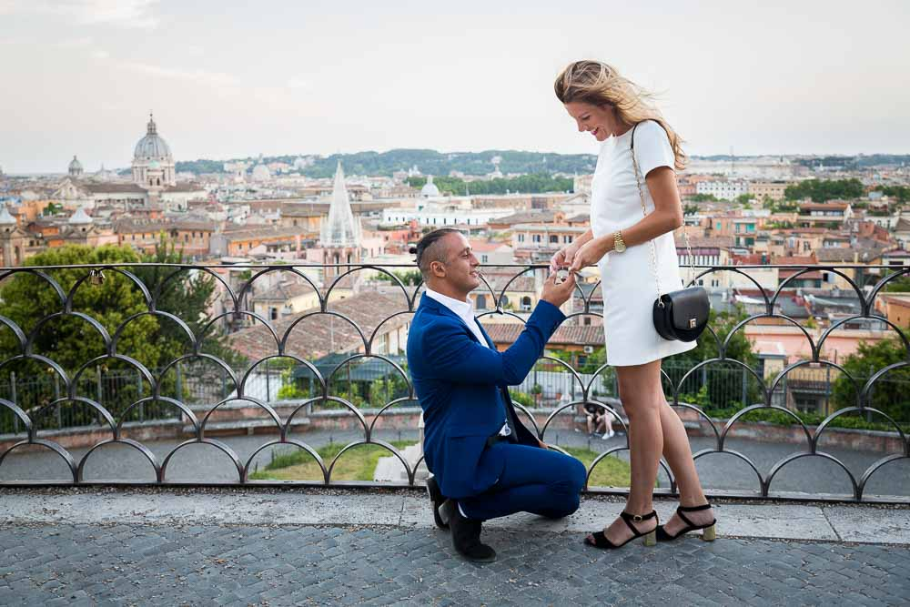 Proposing over the roman skyline