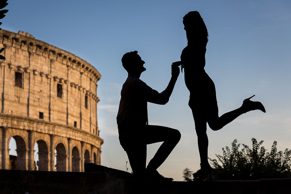 Engagement and surprise wedding proposal photography by Andrea Matone photographer