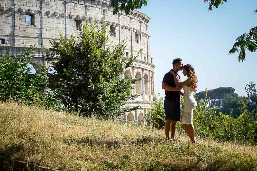 Hillside couple Engagement pictures in Rome