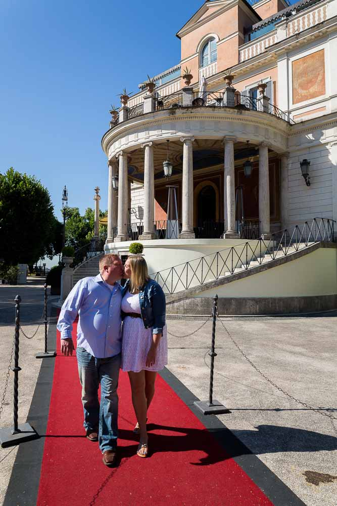In love in Rome walking on the red carpet