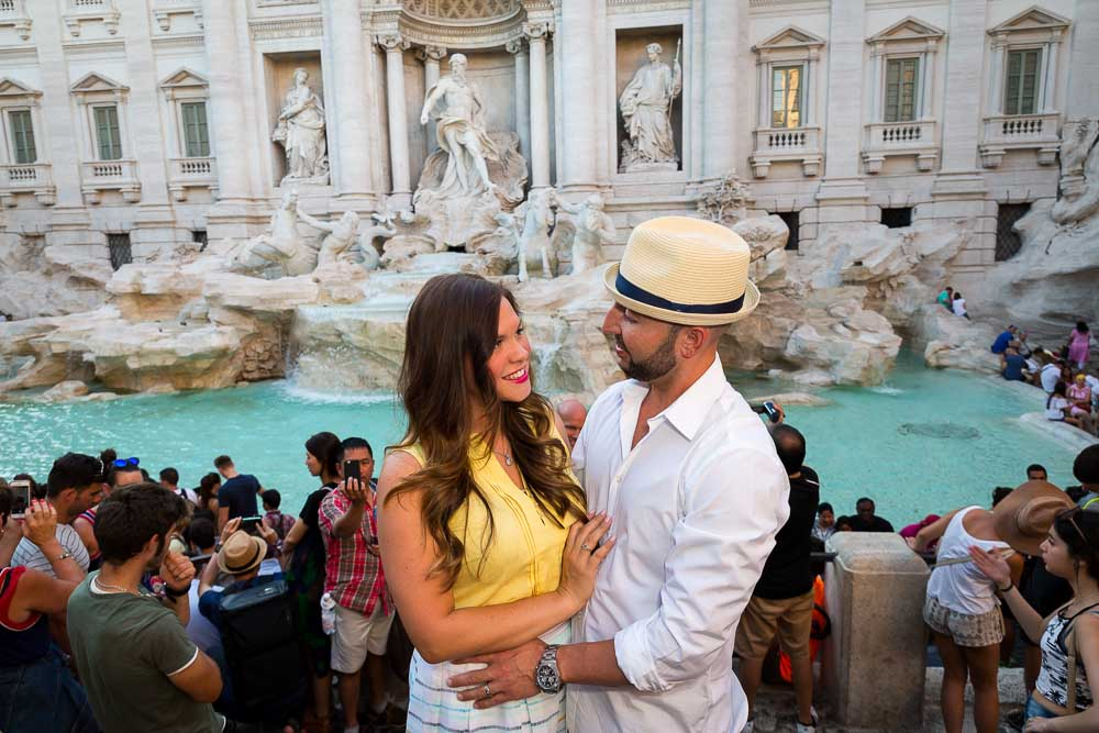 The reality of the Trevi fountain
