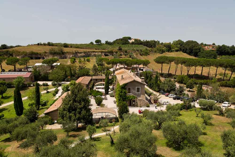 Roman countryside wedding reception
