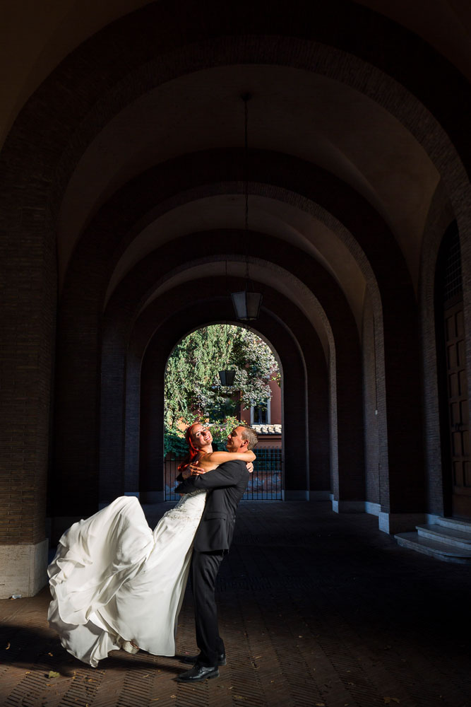 Wedding photography at Church Santa Sabina in Rome Italy