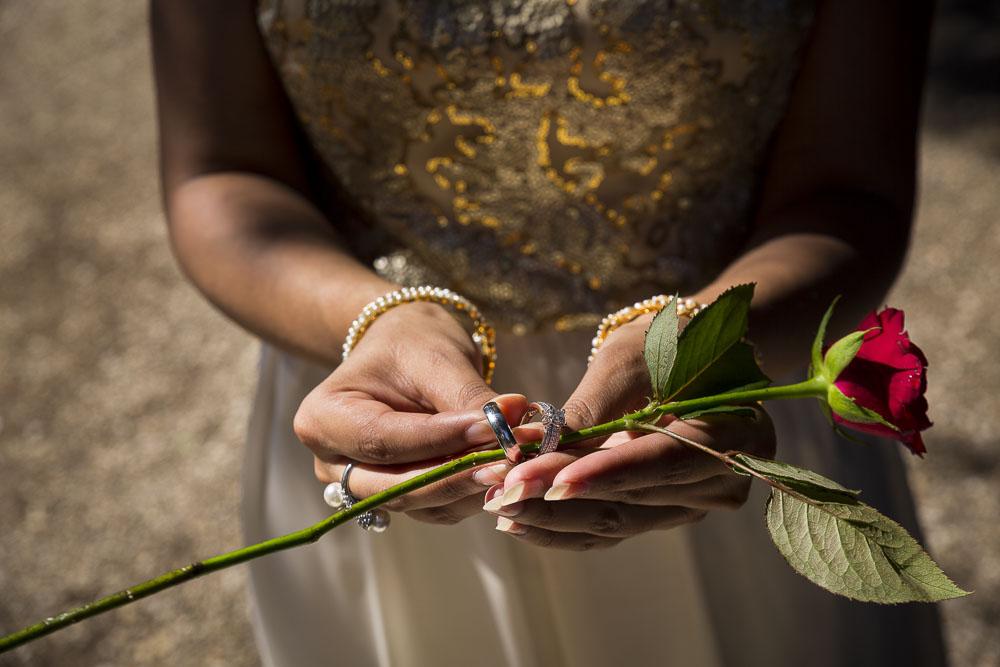 Putting ring around a rose