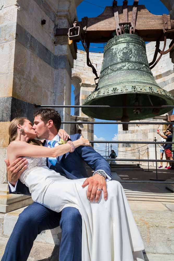 Kissing under the bells