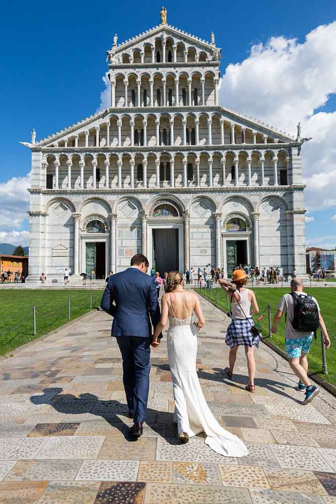 Wedding photography at the Cathedral in Pisa