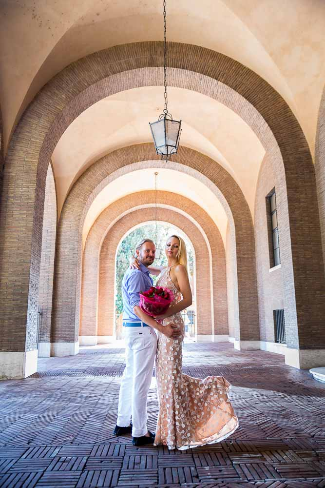 Engagement like photo shoot under arches