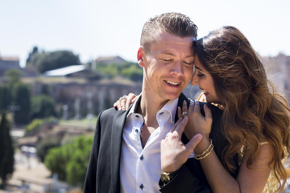 Close up shot of a couple in love in Italy. Engagement Shoot in Rome