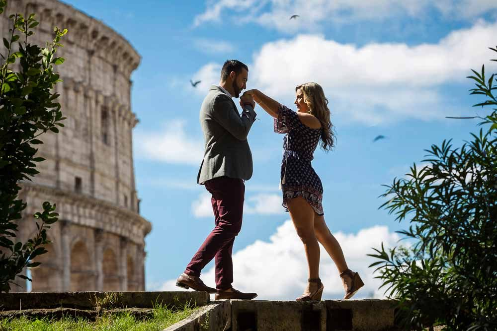 Engagement photography in Rome Italy image by Andrea Matone photographer