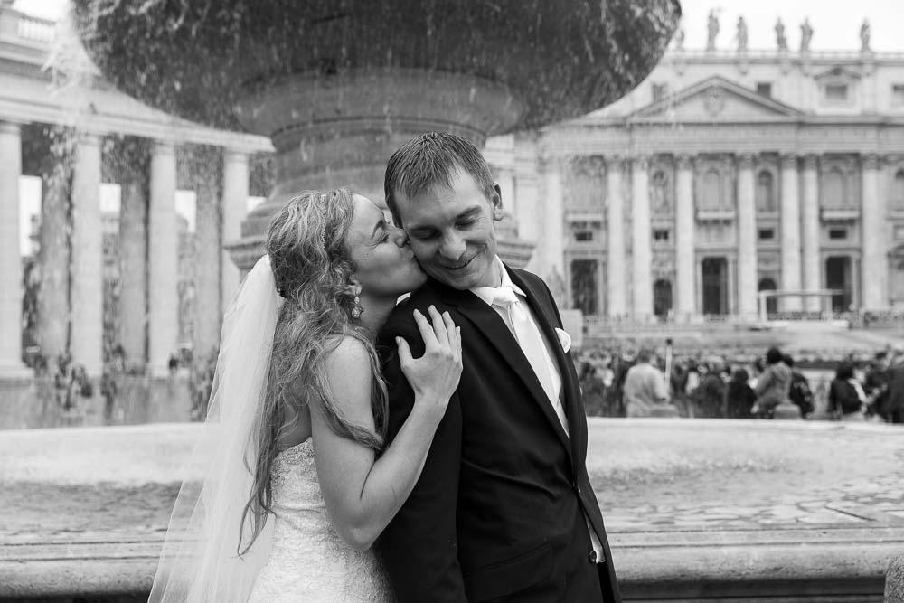 Close up portrait image of the newlyweds