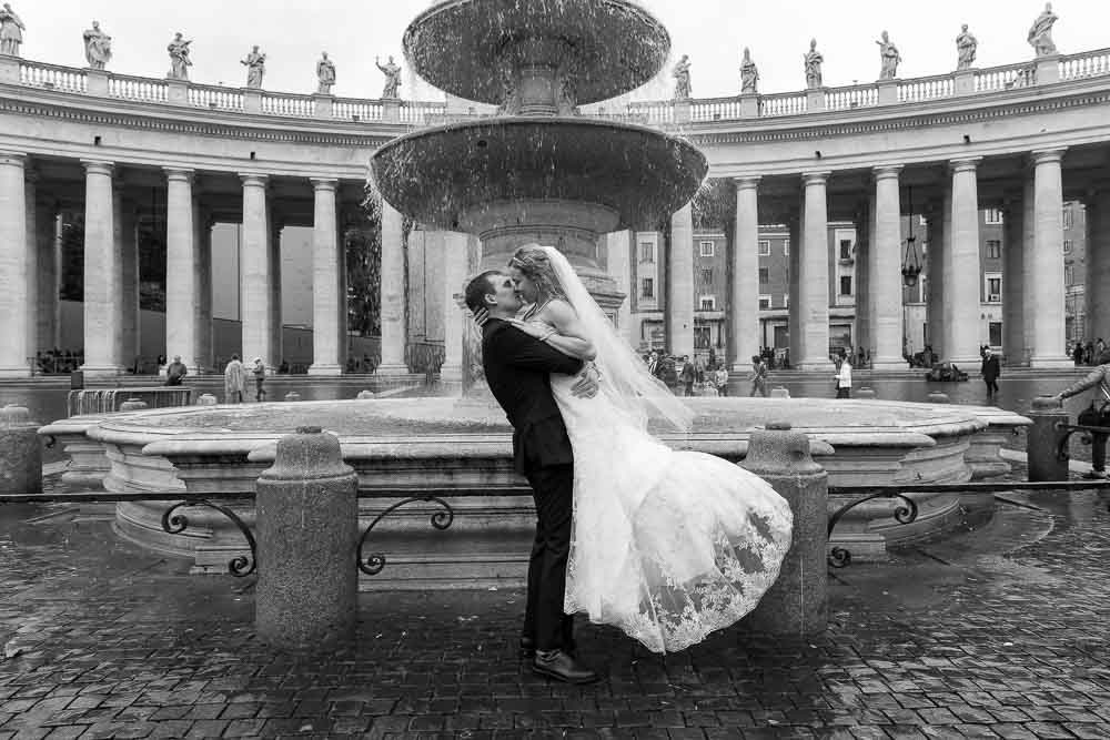 St. Peter wedding photography session in Rome Italy