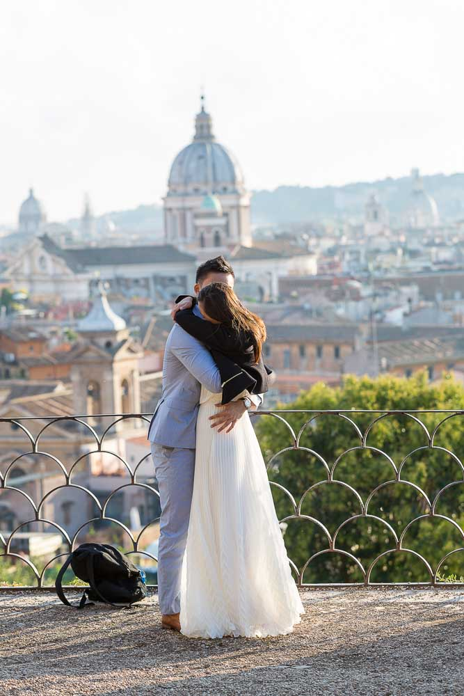 Joy and happiness. In love in Rome. Sunset image