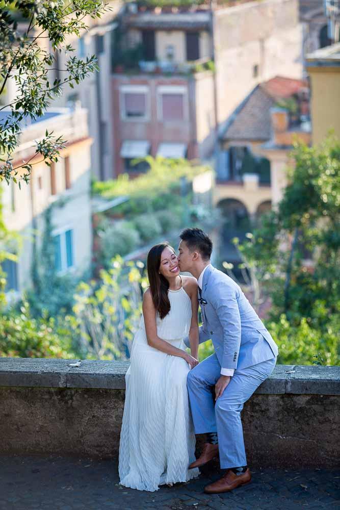 Kissing during a roman e-session