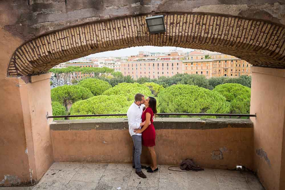 Lifestyle photo shooting inside Castel Sant'Angelo. Rome, Italy.