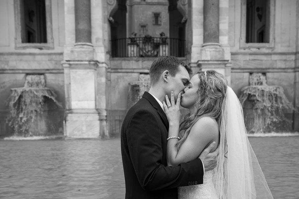 Kissing close up