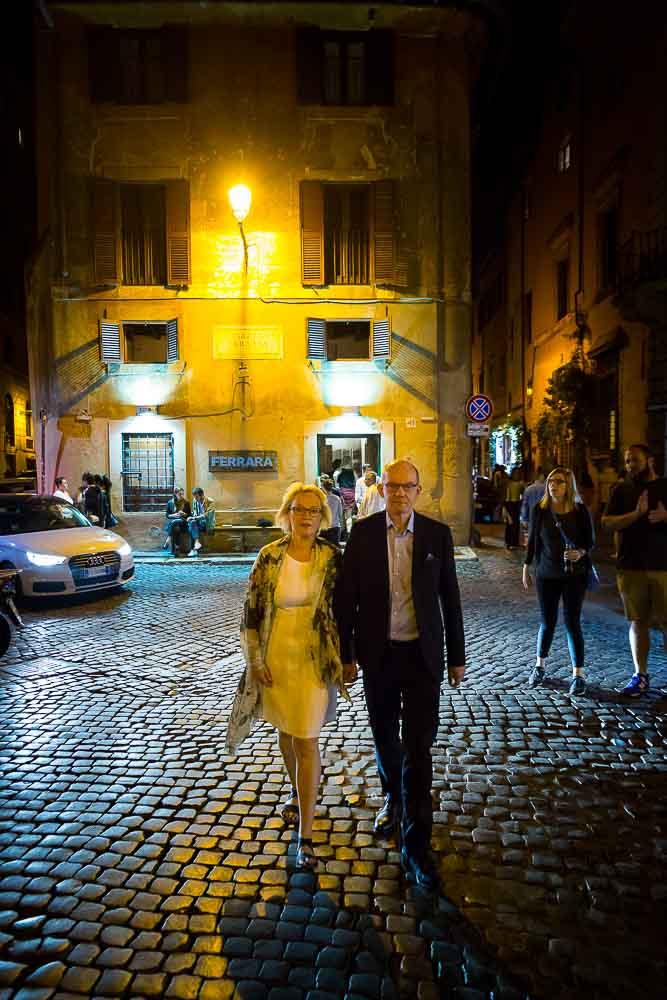 Walking in the streets of Rome Trastevere quarter