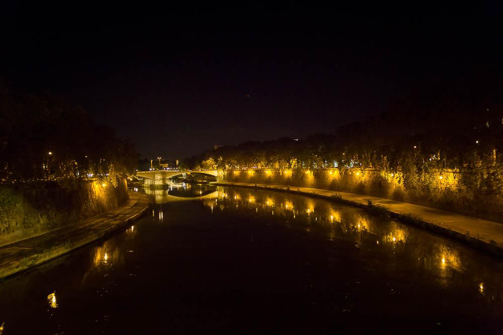 The Tiber river lights