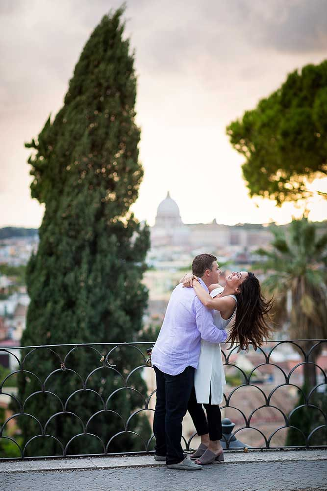 Final image surprise engagement in Rome Italy