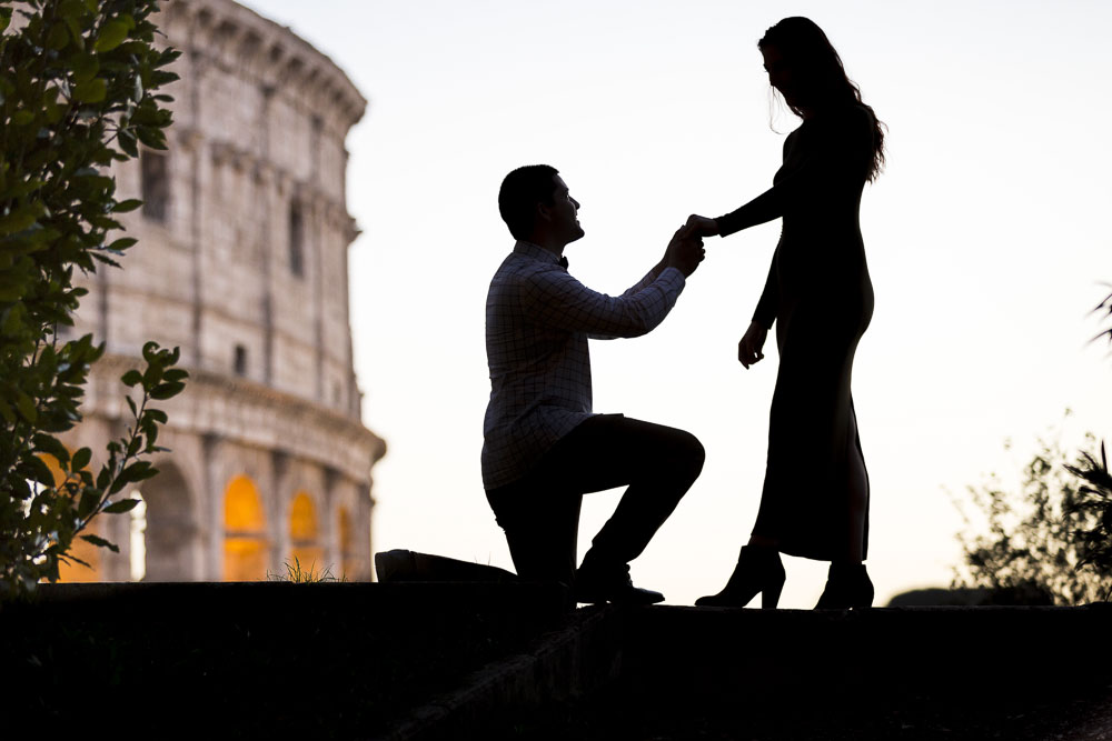 Rome proposal engagement photo session