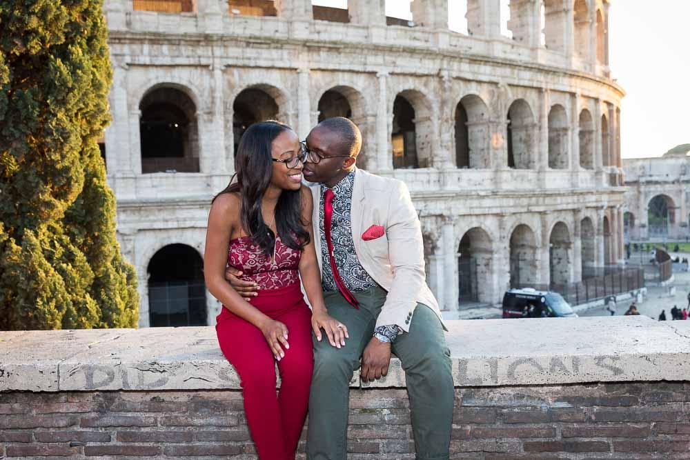 In love near the Colosseum