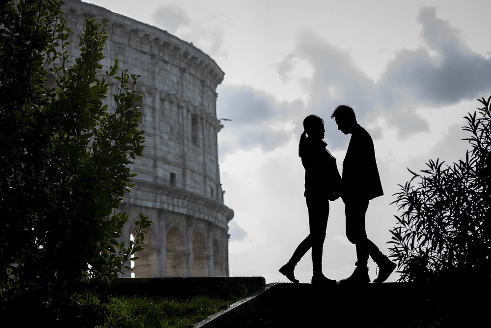 Engaged in Rome love story photo session