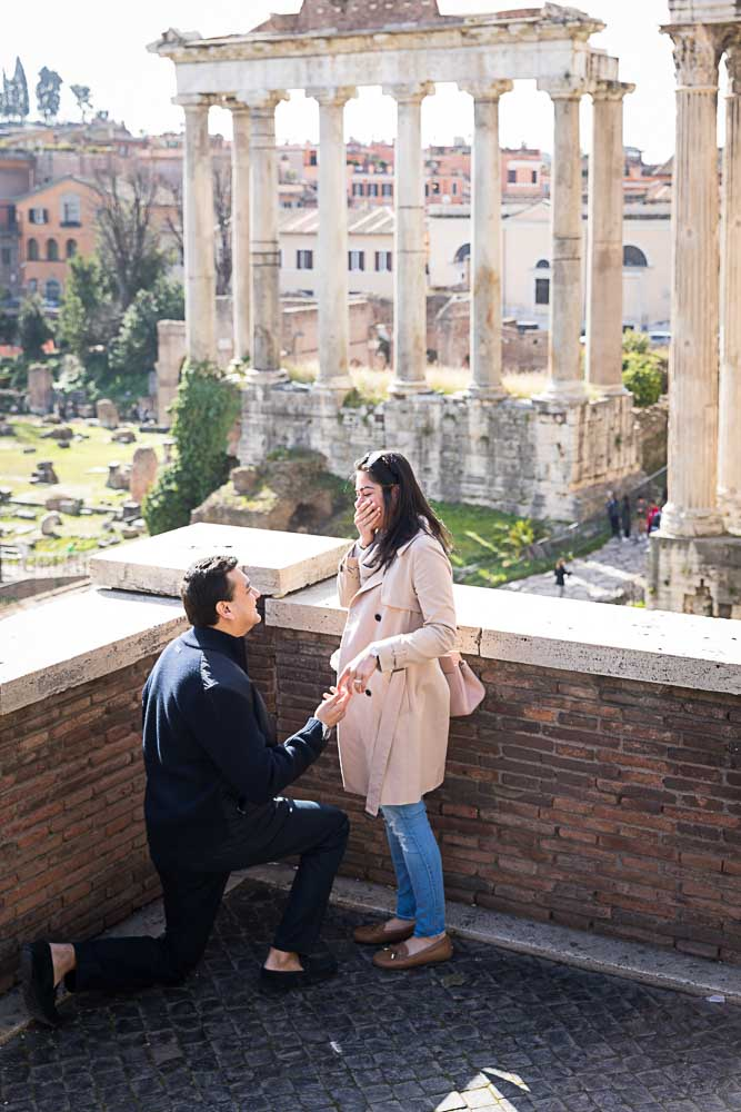 Proposing marriage at the Roman Forum