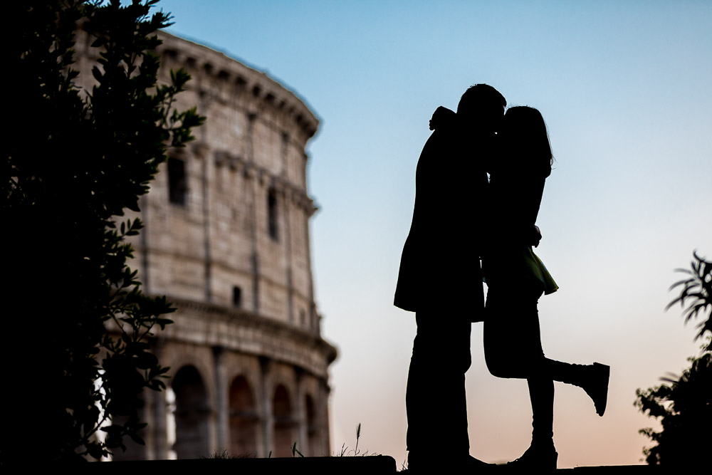 Portrait image of a couple during an Anniversary Photography Session t in Rome