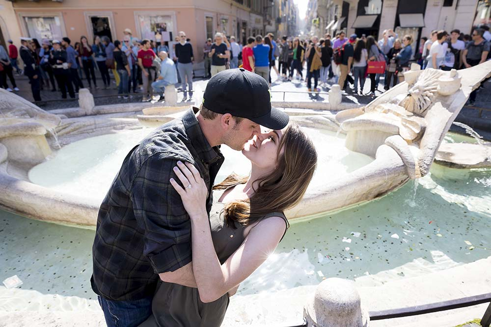 166 Barcaccia water fountain