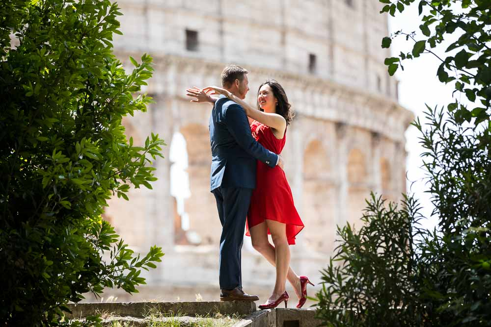 Couple Rome honeymoon photo session image by Andrea Matone photographer