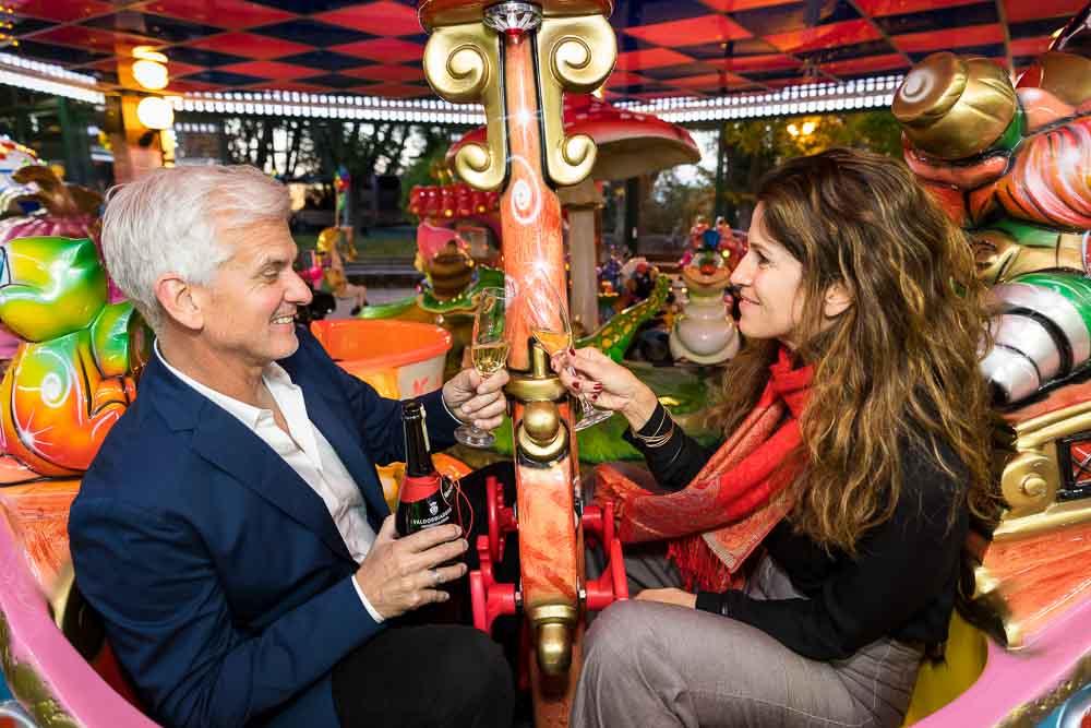 A toast on an amusement park ride