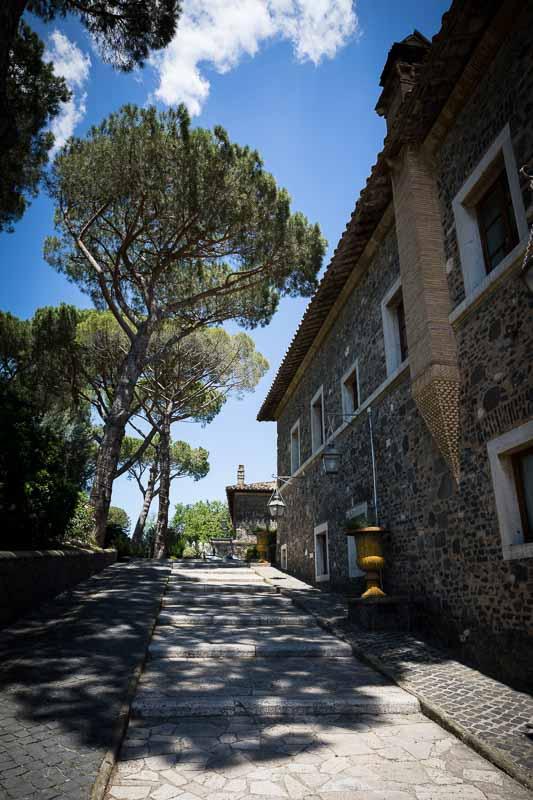 Castello della Castelluccia matrimony venue daytime exterior Rome Italy